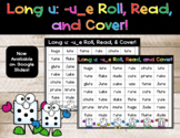 Long u: -u_e Roll, Read, and Cover- Google Slides and Game Mat