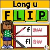Long u Word Family (u_e, ew, oo, ue) Phonics FLIP Books