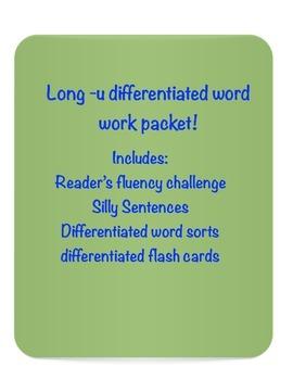 Long -u vowel word work packet!