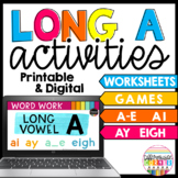 Long A Silent E and Vowel Teams- Distance Learning Google Classroom