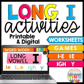 Long vowel I activities