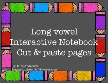 Long vowel Interactive Notebook pages