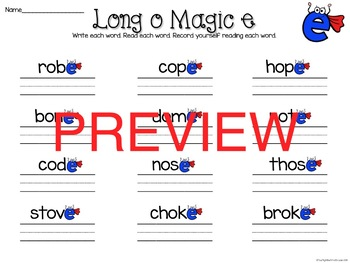 Long vowel Magic Read Write, Read, Record
