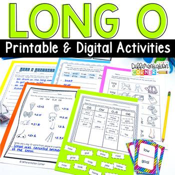 Long vowel O activities