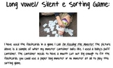 Long vowel/ Silent e Word Sort Game