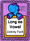 Long vowel activity pack Long e (ee)