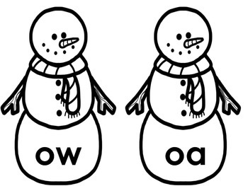 Long vowel and short vowel sort (winter) themed printer friendly