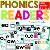 Long Vowel Fluency Readers for E I O U Distance Learning