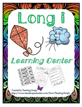 Literacy Center - Long i - Phonics - Reading