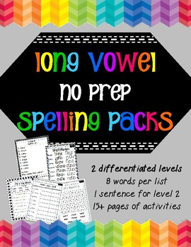 Long Vowel Spelling Packs- NoPrep