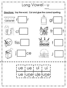 Vowels - Long vowel u packet