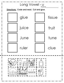 Long Vowel u Practice Pages