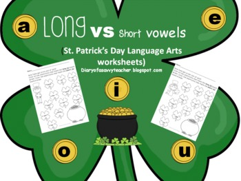 Long vowel vs Short vowel St. Patrick's Day worksheets