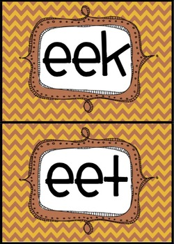 Long vowel word sorts