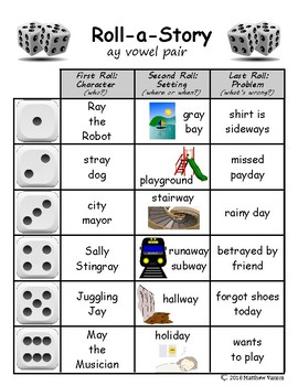Long vowels Roll-A-Story