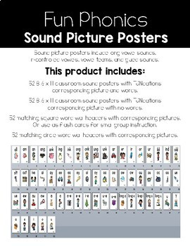 Long vowels and Vowel team Posters and Word Wall Headers {White Version}