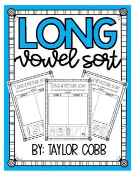 Long vs Short Vowel Picture Sort