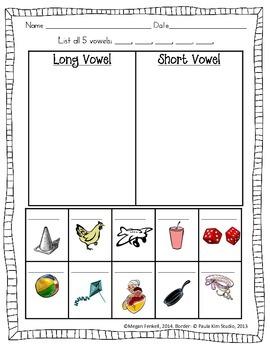 Long vs. Short Vowel Sorts