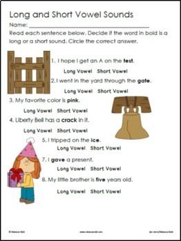 Long vs Short Vowels BUNDLE BINGO & Practice Worksheets