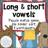 Long vs Short Vowels Practice Games and Worksheets