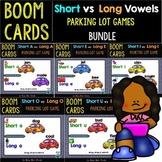 Long vs Short Vowels Sorts | Boom Cards | Parking Lot Games | Bundle