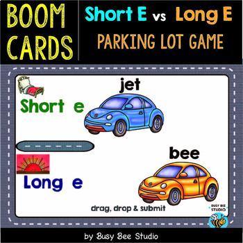 Long vs Short Vowels Sorts   Boom Cards   Parking Lot Games   Bundle