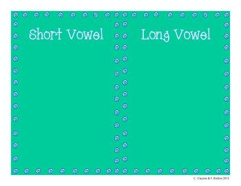Long vs. Short Vowels (for CCSS Unit 1, Grade 1)
