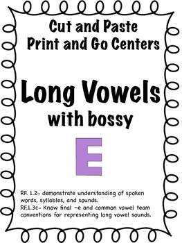 Long wowels with silent e