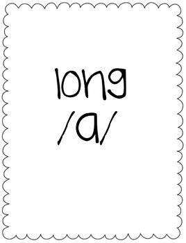 Long/Short A Vowel Sort Game