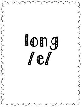 Long/Short E Vowel Sort Game