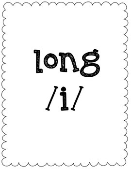 Long/Short I Vowel Sort Game