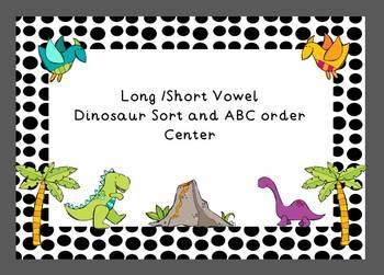 Long/Short Vowel Dinosaur Sort with ABC Order