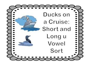 Long/Short Vowel Intervention: U Vowel Sort Center (11pgs.)