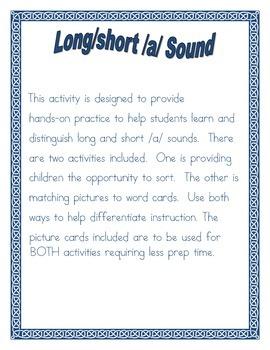 Long/Short /a/ Vowel sort