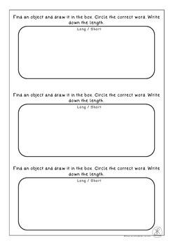 Longer and Shorter Measurement Worksheet