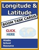 Longitude & Latitude BOOM Task Cards