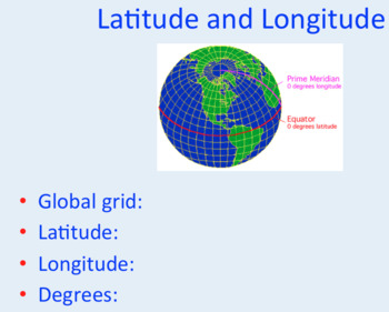 Longitude & Latitude Powerpoint & Activity