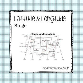 Longitude and Latitude Bingo