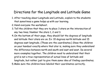 A Simple Longitude and Latitude Battleship Game