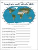 Longitude and Latitude Labeling Worksheet for Google Slides