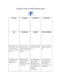 Longitude and Latitude Memory Game/Assessment