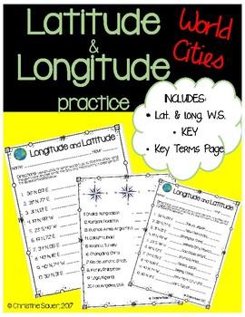 Longitude and Latitude Practice