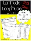 Latitude and Longitude Worksheet {USA Cities}