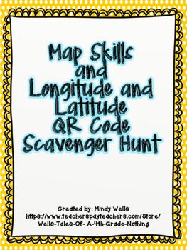 Longitude and Latitude QR Code Scavenger Hunt