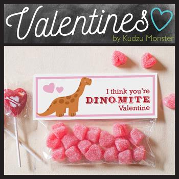 Longneck Dinosaur Valentine Treat Topper