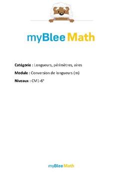 Longueurs, périmètres, aires - Conversions de longueurs (m) -CM1-6e