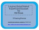 Longview School District Report Card Checklist – 4th Grade