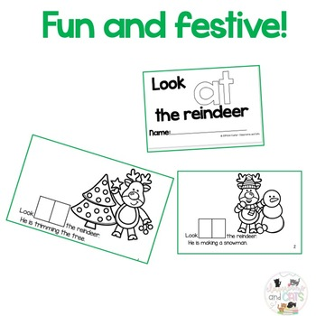 Look AT the reindeer- Sight Word emergent reader