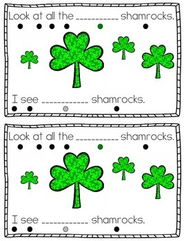 Look At All The Shamrocks {Emergent Reader & Activity Book}