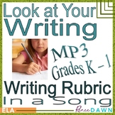 Writing Rubric in a Song K - 1 MP3